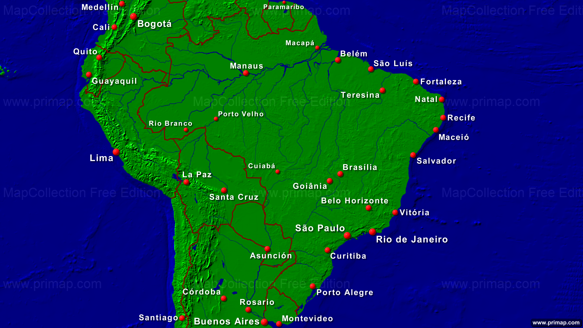 karte brasilien städte Karte Brasilien Mit Städten | goudenelftal