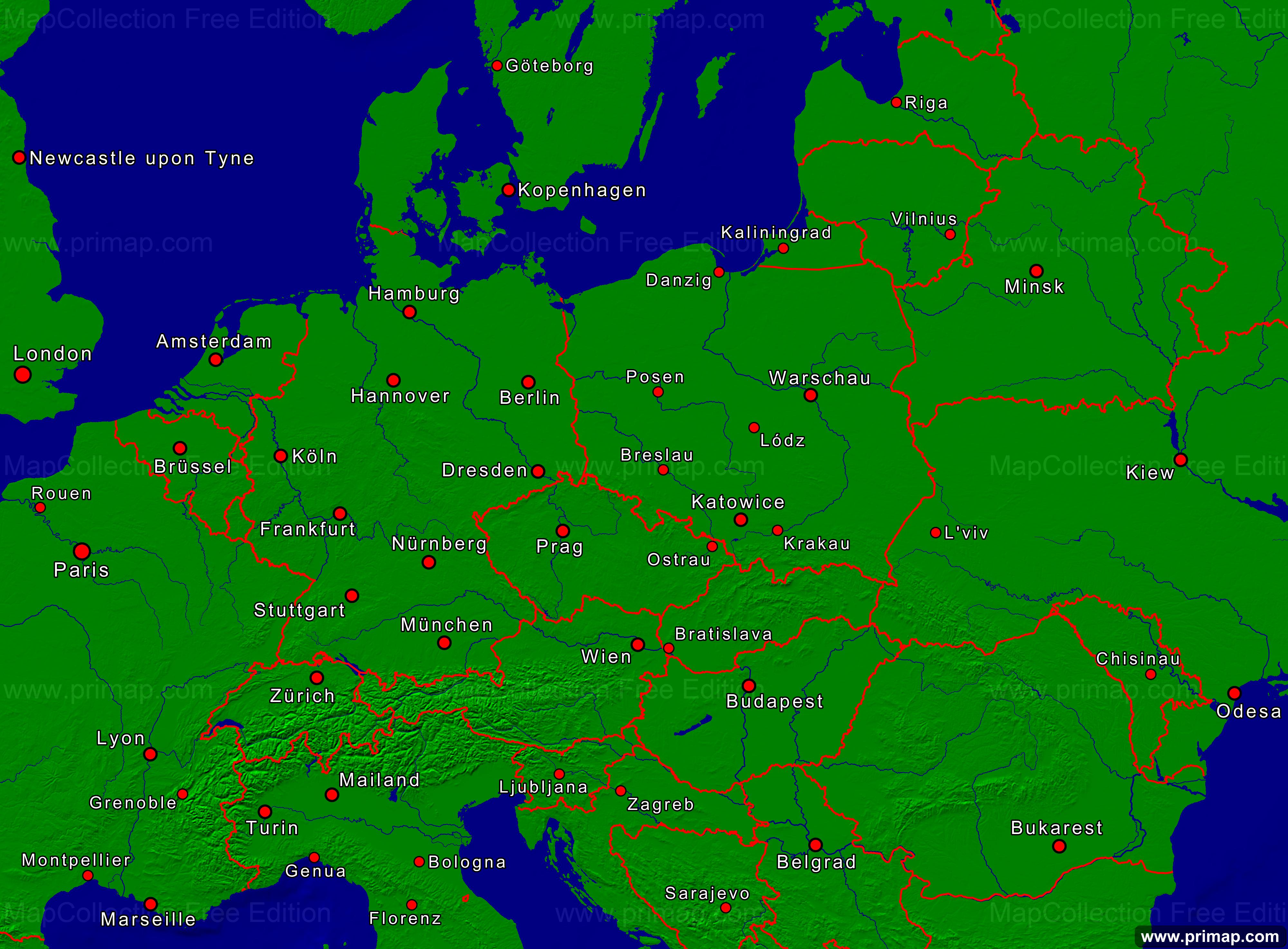 Karte Von Europa Mit Städten.Karte Städte Europa My Blog