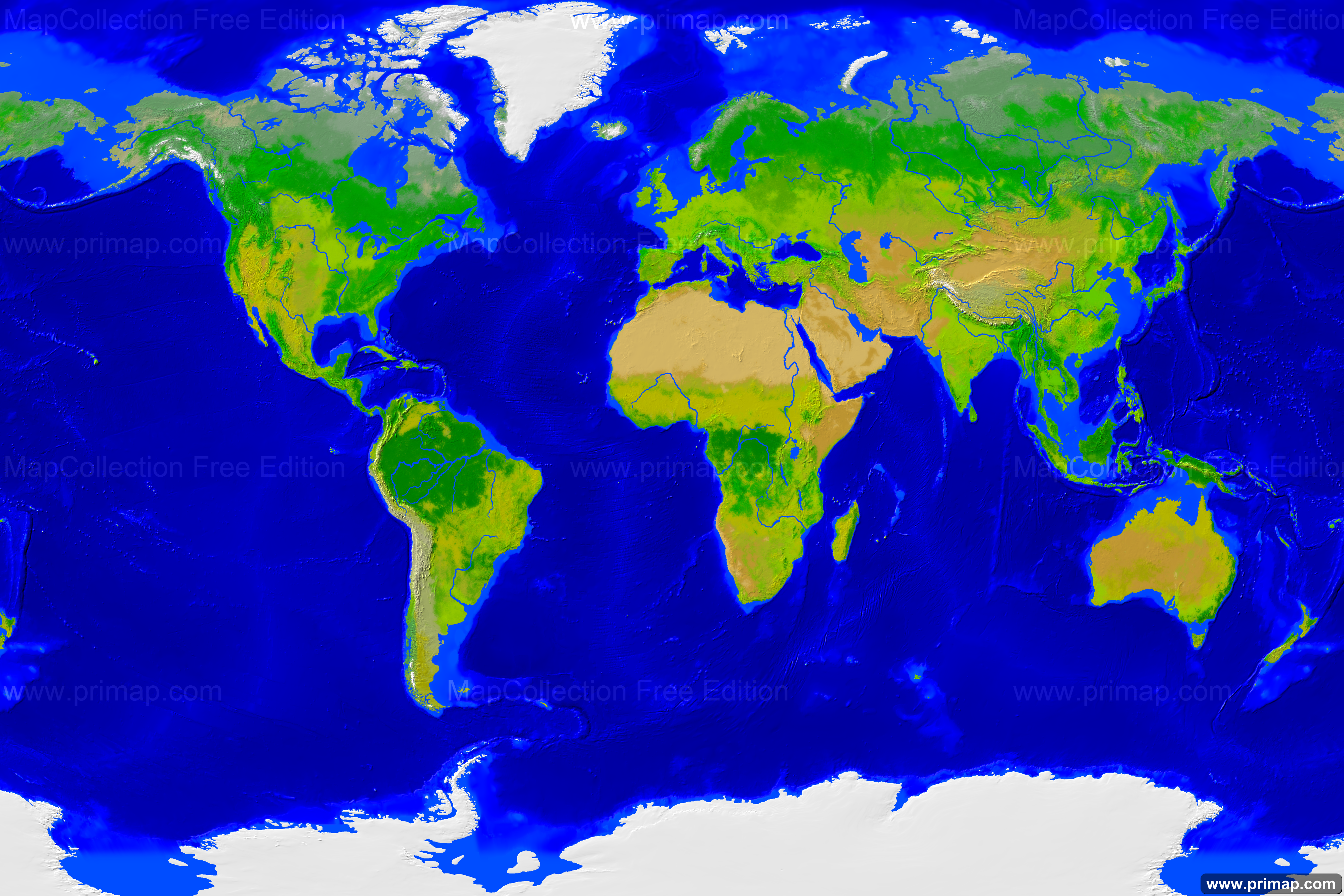 Primap Weltkarten