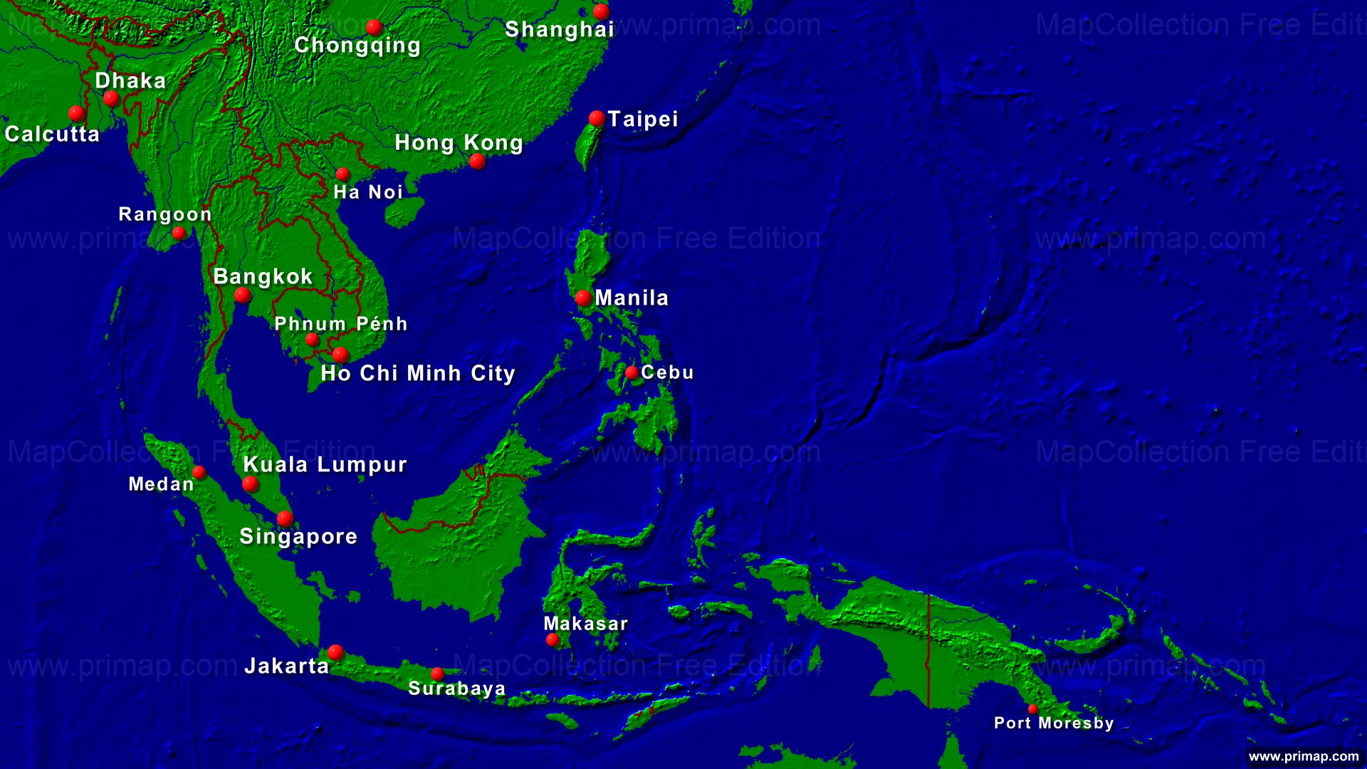 primap Continental maps