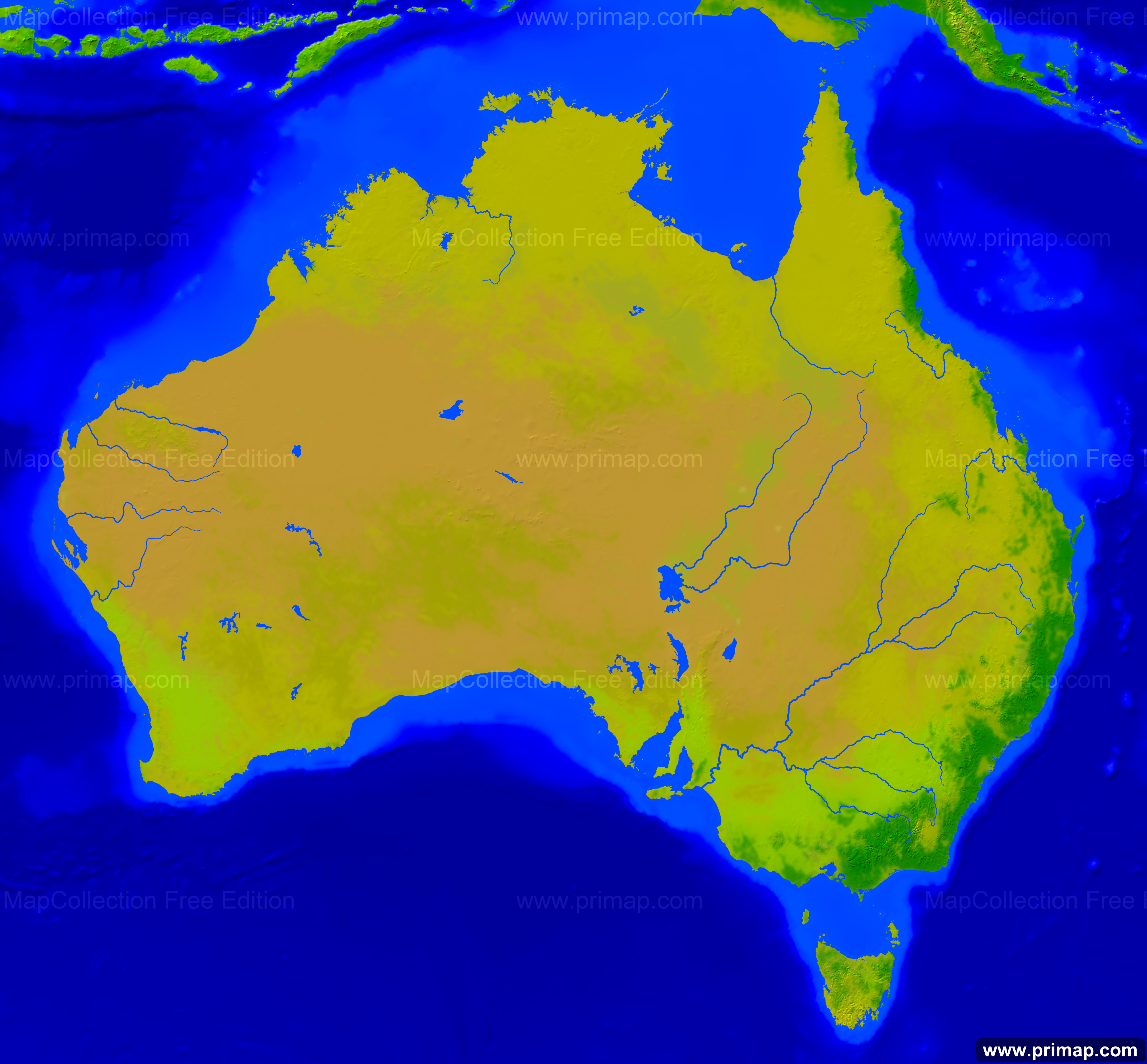 Australia Map Vegetation.Primap National Maps