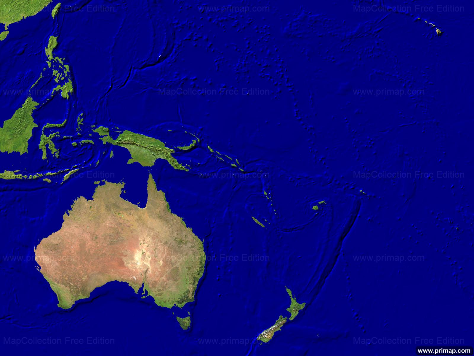 Australia Map Satellite.Primap Continental Maps