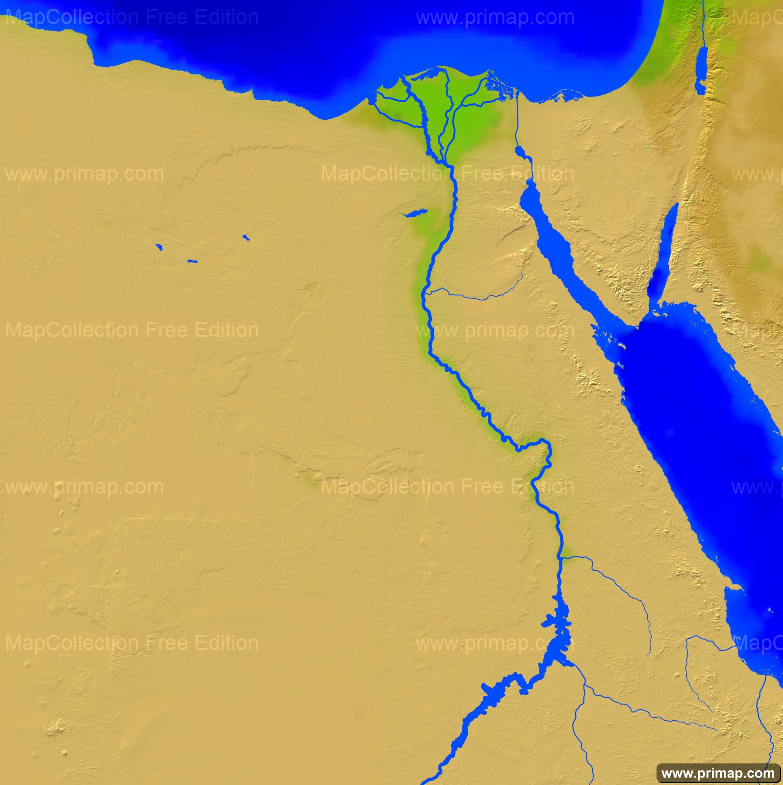 Primap National Maps - Vegetation map of egypt