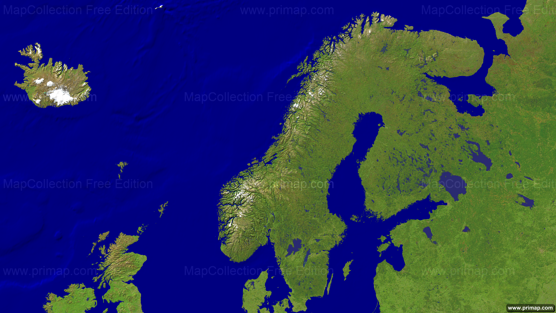 europe north satellite 1920x1080 show map