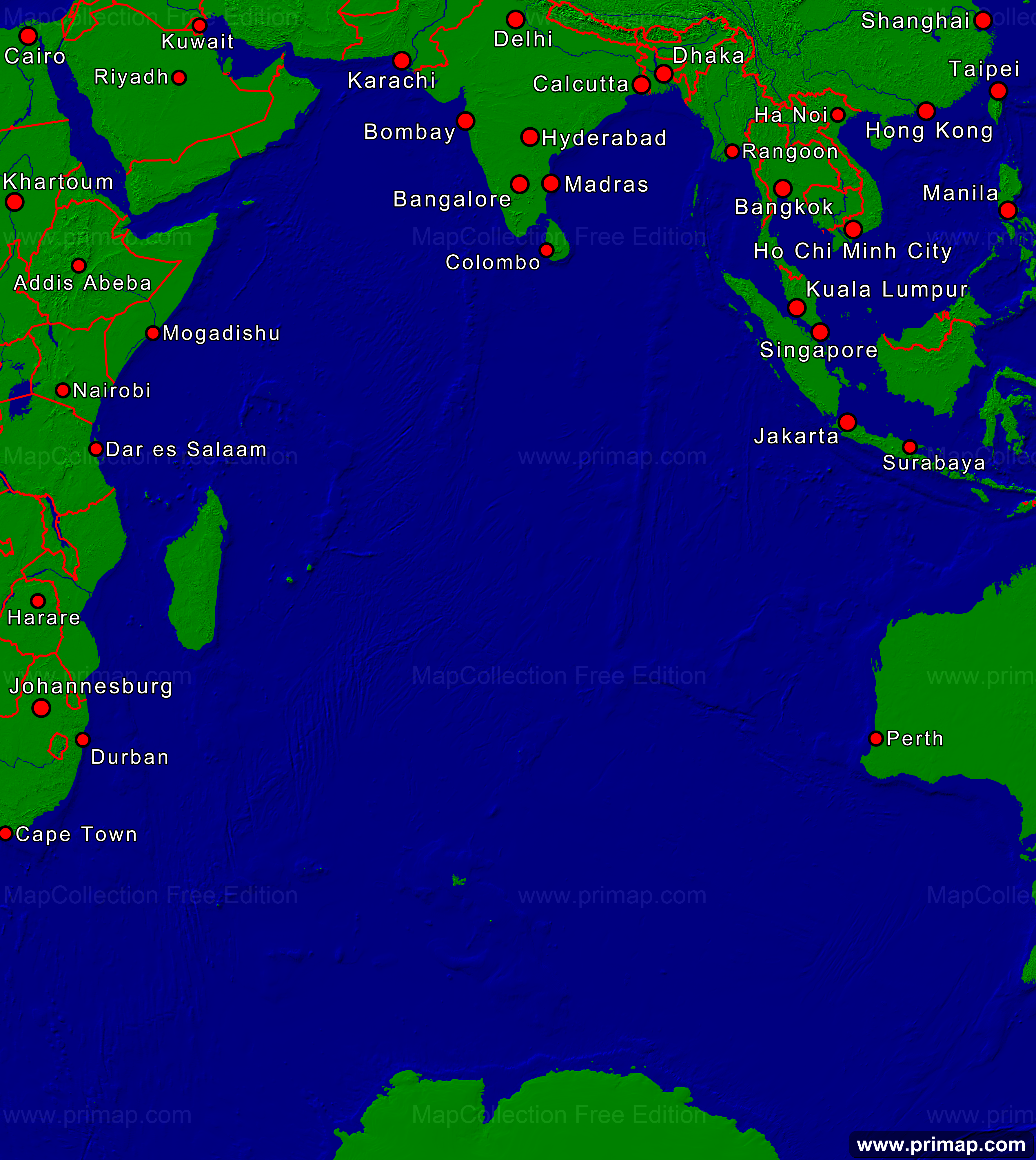 Primap marine charts indian ocean towns borders 3575x4000 show map gumiabroncs Images