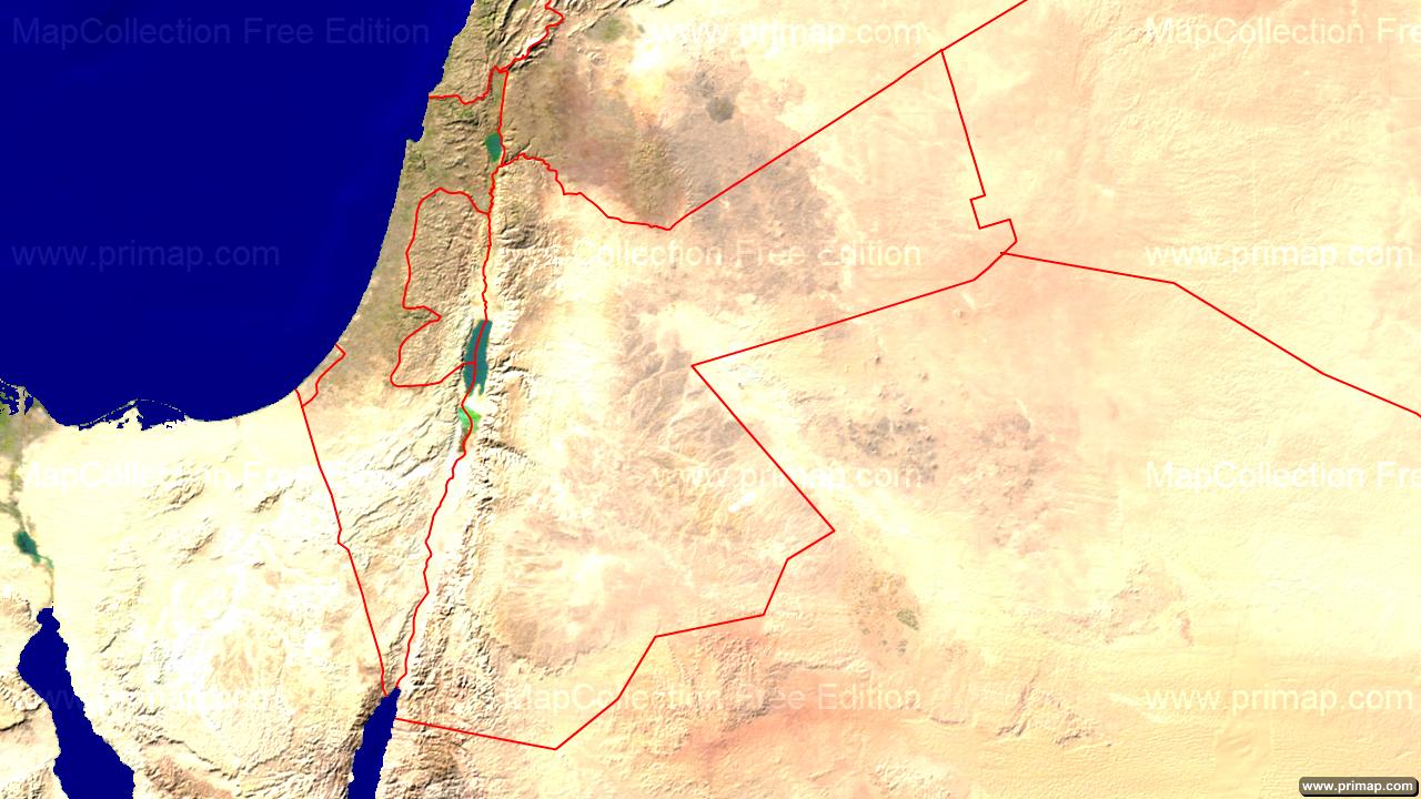 Primap national maps jordan satellite borders 1280x720 gumiabroncs Choice Image