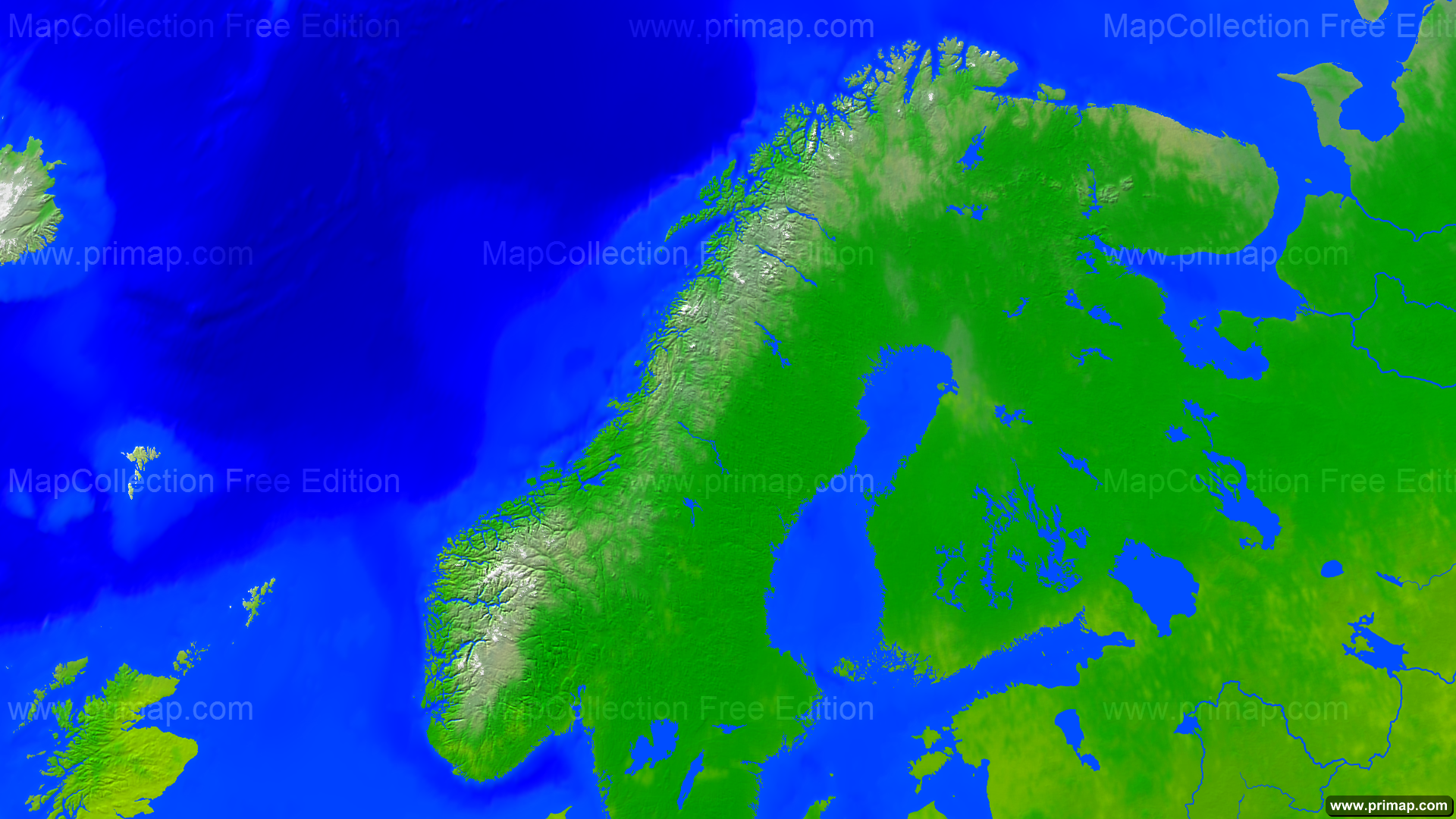 Primap National Maps - Norway map hd
