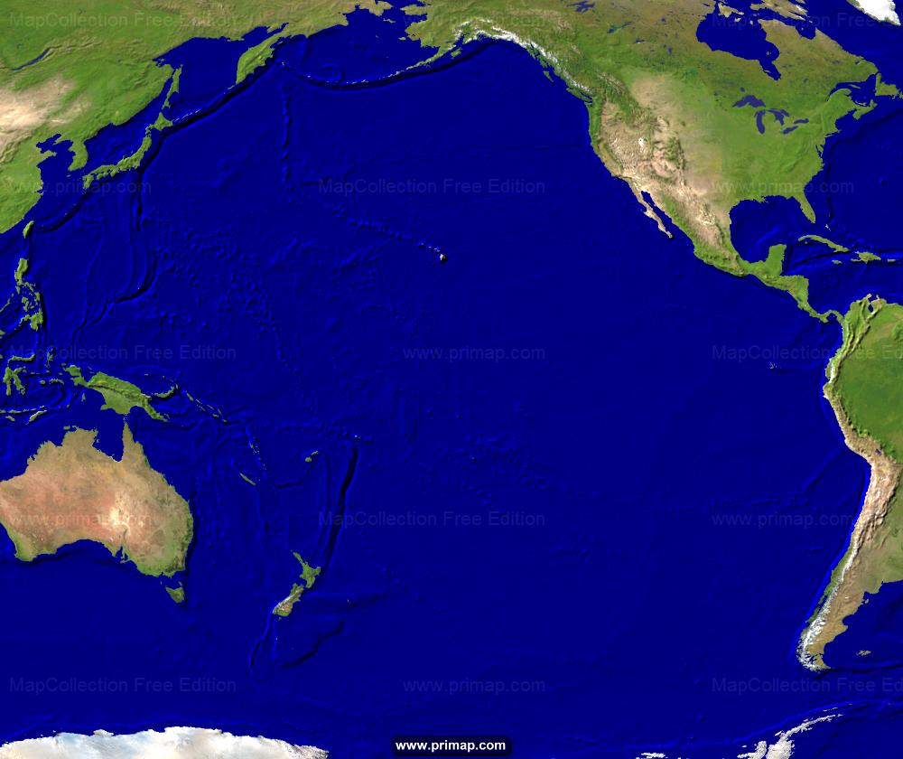primap Marine charts Pacific Ocean Underwater Map
