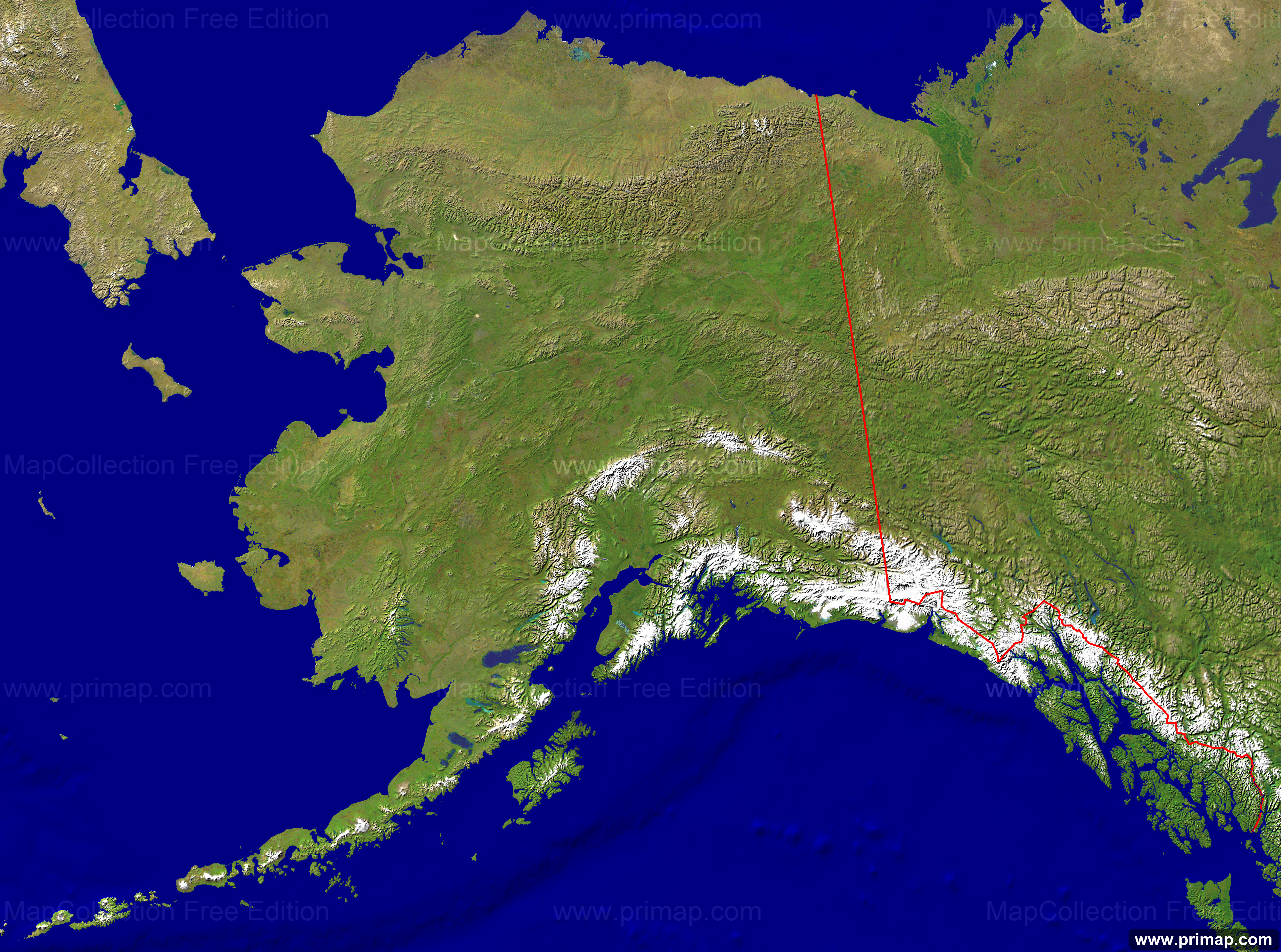 Primap National Maps - Alaska map in usa