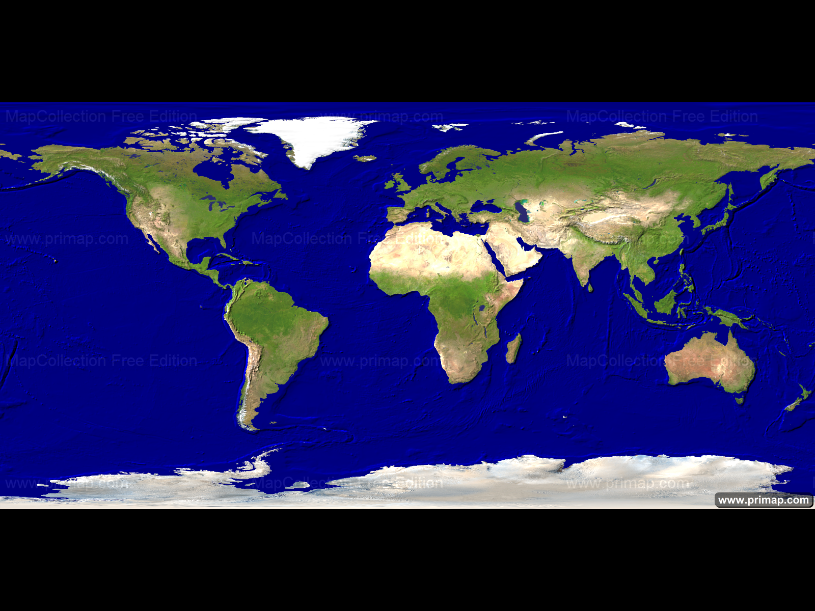 Primap World Maps - World map satellite picture