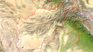 Afghanistan Satellite + Borders 1920x1080