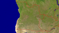 Angola Satellite + Borders 1920x1080