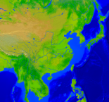 Asia-East Vegetation 4000x3756