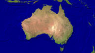 Australia Satellite + Borders 1920x1080