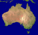 Australia Satellite + Borders 4000x3709