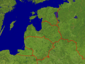 Baltic States Satellite + Borders 800x600