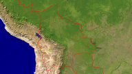 Bolivia Satellite + Borders 1920x1080