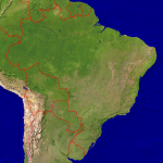Brazil Satellite + Borders 1999x2000