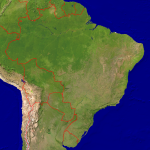 Brazil Satellite + Borders 3998x4000