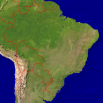 Brazil Satellite + Borders 999x1000