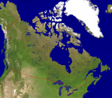 Canada Satellite + Borders 4000x3487