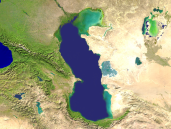 Caspian Sea Satellite 1200x900