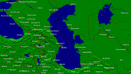 Caspian Sea Towns + Borders 1600x900