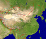 China Satellite + Borders 4000x3363
