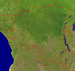 Congo Satellite + Borders 1000x946