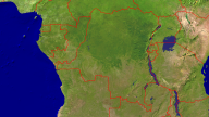 Congo Satellite + Borders 1920x1080