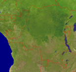 Congo Satellite + Borders 4000x3783