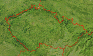 Czech Republic Satellite + Borders 800x483