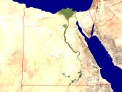 Egypt Satellite + Borders 1600x1200