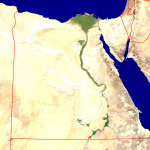 Egypt Satellite + Borders 798x800