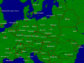 Europe-Central Towns + Borders 1600x1200