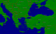 Europe-Southeast Towns + Borders 4000x2398