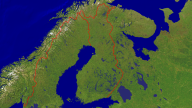 Finland Satellite + Borders 1280x720