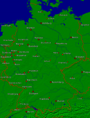 Germany Towns + Borders 910x1200