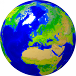 Globe (Europe-centered) Vegetation 2000x2000