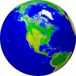 Globe (USA-centered) Vegetation 1000x1000