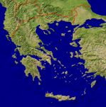 Greece Satellite + Borders 1185x1200