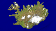Iceland Satellite + Borders 800x450