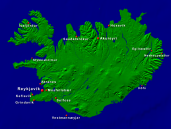 Iceland Towns + Borders 800x600