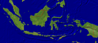 Indonesia Satellite + Borders 2000x888