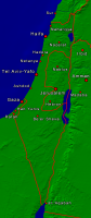 Israel Towns + Borders 334x800