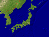 Japan Satellite + Borders 1600x1200