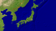 Japan Satellite + Borders 1920x1080