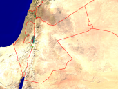 Jordan Satellite + Borders 800x600