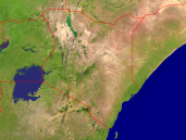 Kenia Satellite + Borders 1600x1200