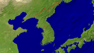 Korea Satellite + Borders 1280x720